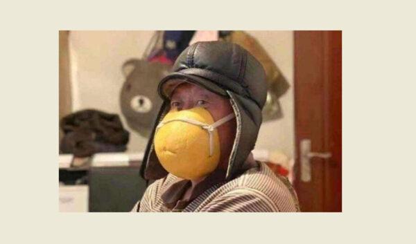 柚子皮寶特瓶齊上陣 中國DIY防護罩創意令人心酸