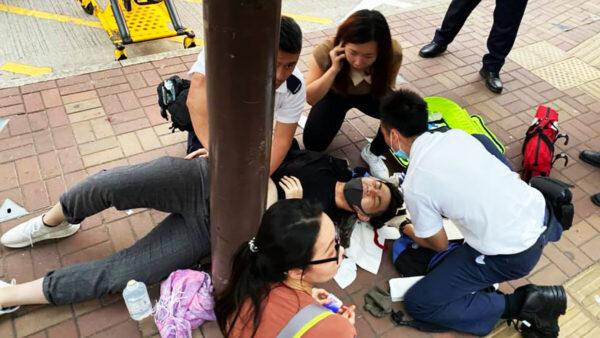 发文宣遭大陆男割颈 香港高中生颈肌永久断裂