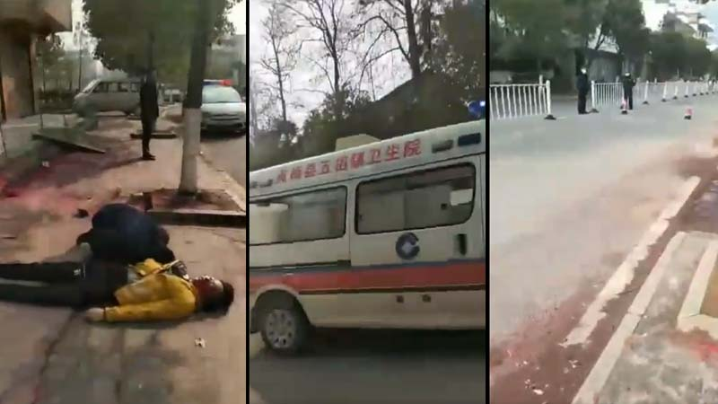 中共防疫釀悲劇:傳湖北男闖封鎖路口被打死(視頻)