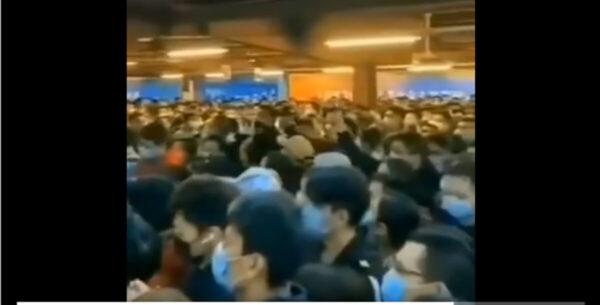 陸客蜂擁赴香港避瘟疫 擠爆海關(視頻)