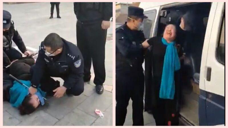沒錢買口罩上街被抓 大媽哭喊:沒法活了!(視頻)