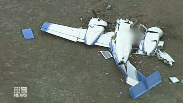 墨爾本2飛機半空相撞 釀4死殘骸斷裂數截