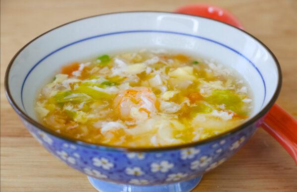 【美食天堂】家常料理食譜 一學就會|蝦仁蔬菜蛋花湯食譜~簡單美味讚不絕口!