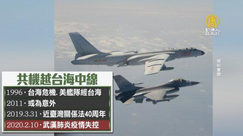 共机越中线挑衅转焦 引国际反弹.美方力挺台湾