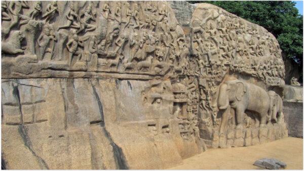 大海嘯過後 印度意外冒出古石雕建築群(圖)