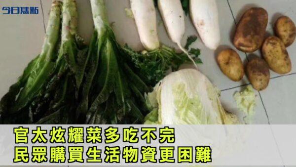 官太炫耀菜多吃不完 民众购买生活物资更困难【今日焦点】
