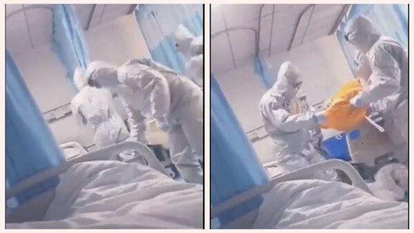 武汉肺炎患者恐怖直播:病友死亡医生收尸(视频)