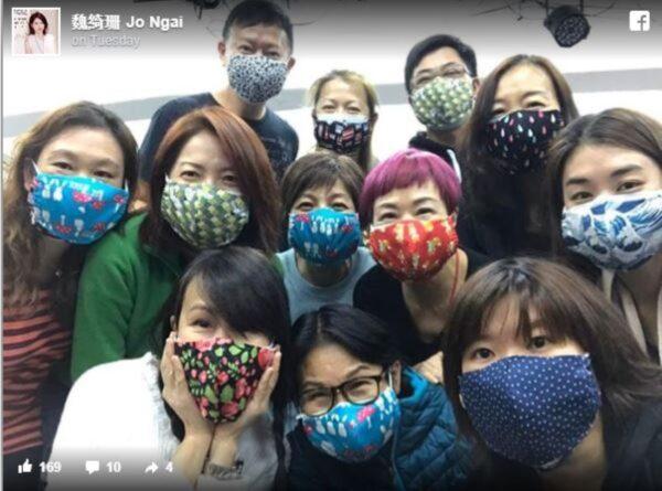 自制布口罩送医护 魏绮珊:康复香港时代抗疫