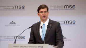 美國防長埃斯珀:中國對世界秩序構成越來越大的威脅