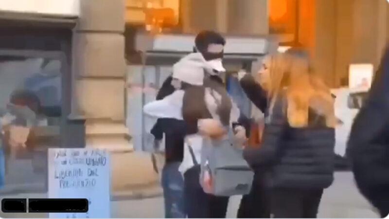 意大利街头暖心一幕 武汉籍留学生获拥抱(视频)