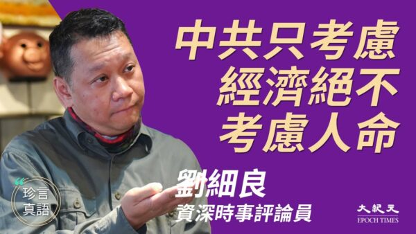 【珍言真语】刘细良:中共防疫只考虑经济,绝不考虑人命(字幕)