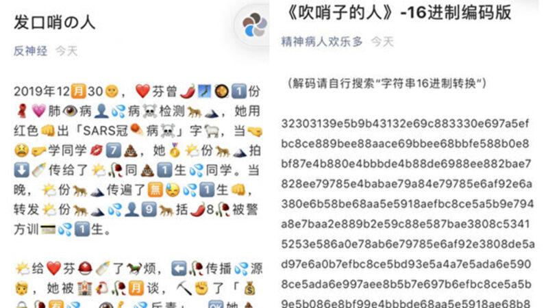 """""""发哨人""""专访文章遭删除 中国网民发挥创意接力传播"""