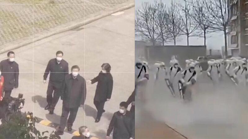 """习赴武汉遭讽""""摘桃子"""" 公安入户狙击手列阵(视频)"""