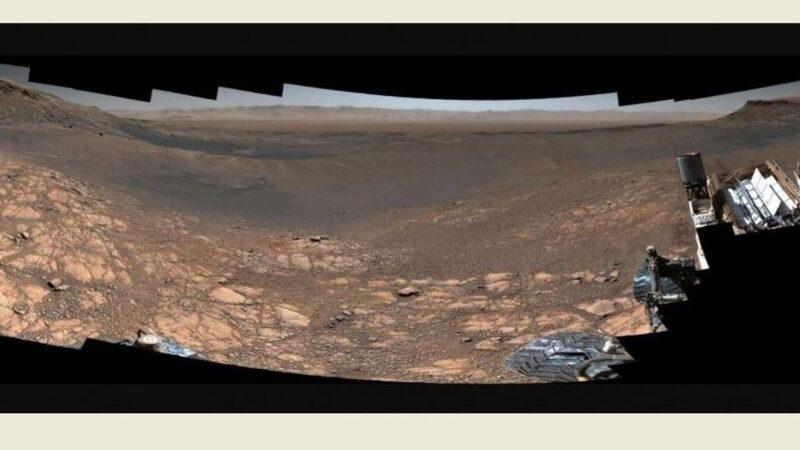 最清晰火星地貌全景照曝光 好奇号车辙清晰可见(组图)