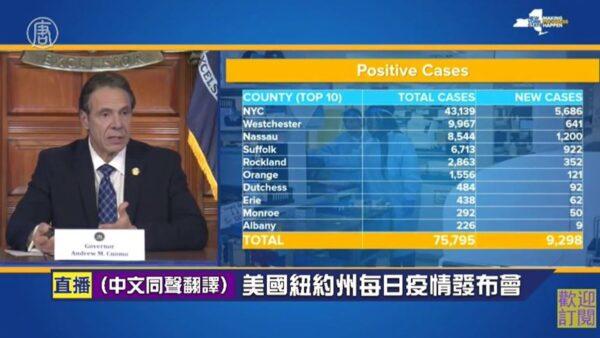 【重播】3.31 纽约州长库默召开新闻发布会