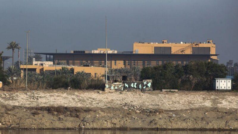 巴格达绿区遭火箭袭撃 疑锁定美驻伊拉克使馆