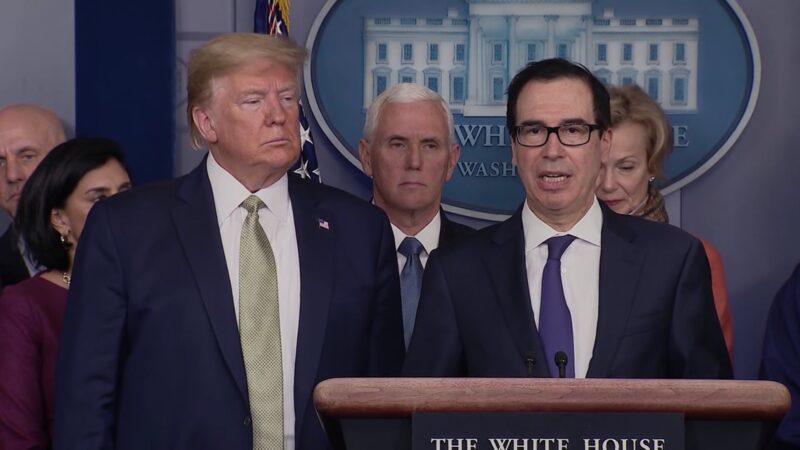 姆努钦:抗中共病毒 白宫将于三周内向美家庭发补助