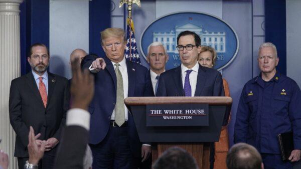 美財長提出援助計劃 川普希望立即向國人發支票