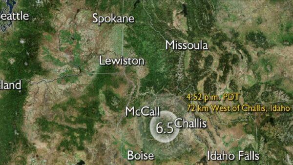 愛達荷州遭6.5強震襲撃 全州搖晃尚未傳災情