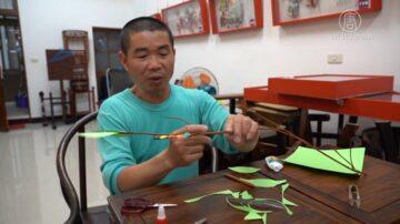 面线糊老板业余做纸雕 作品展现北港近代史