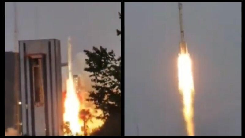 长征三号火箭载卫星升空 秒速爆炸坠落(视频)