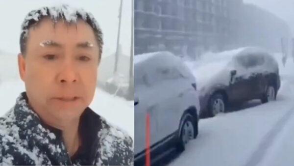 天呈异象:黑龙江早春暴雪还打雷(视频)