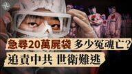 """【世界十字路口】小心!病毒可""""空气""""传播 急寻20万尸袋 多少冤魂亡?"""