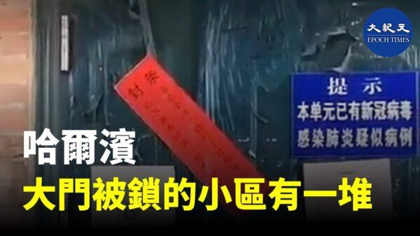 湖北场景再现 网传哈尔滨封死楼门(视频)