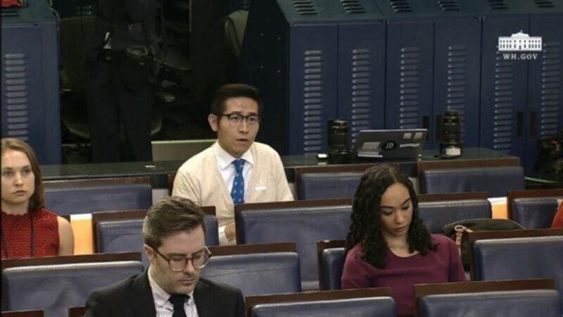 中媒記者迴避身份 川普惱火:現在就把他踢掉!