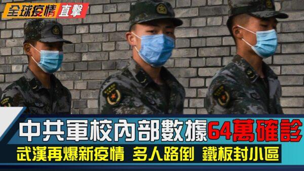 【全球疫情直擊】軍校內部數據 中國至少64萬確診