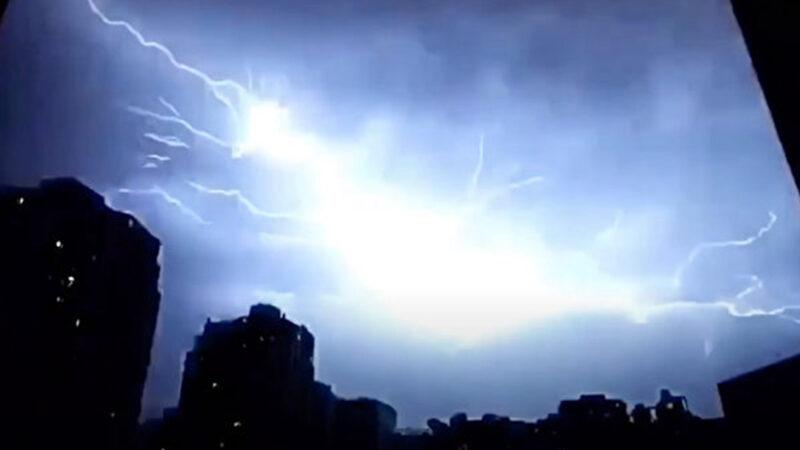華中地區一夜閃電逾14萬次 民眾夢中被嚇醒