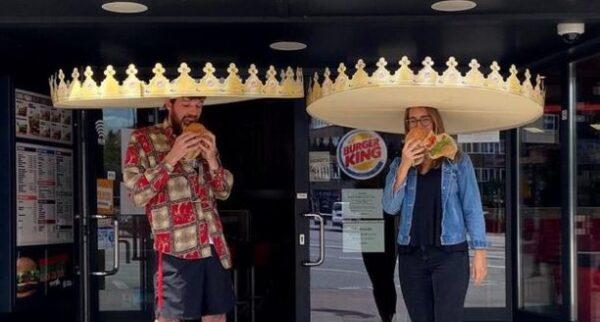 創意奇招確保社交距離 漢堡王送183厘米大王冠