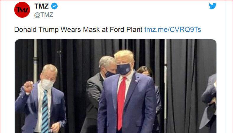 全球獨此一款 川普口罩樣式曝光