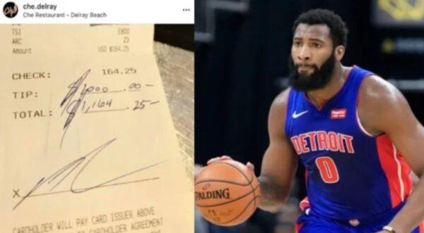 NBA球星暖心打赏1000美元小费 服务生感动爆哭