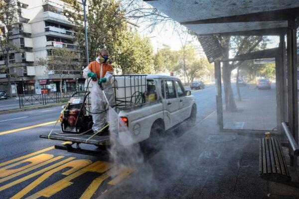 单日确诊2660例创新高 智利首都将全面禁足