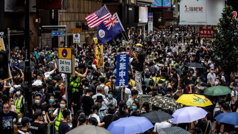 5·24港人抗議驚呆警方 被迫要求緊急增援(視頻)