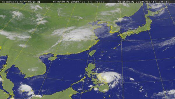 今年第1号台风黄蜂增强 预计17日最靠近台湾