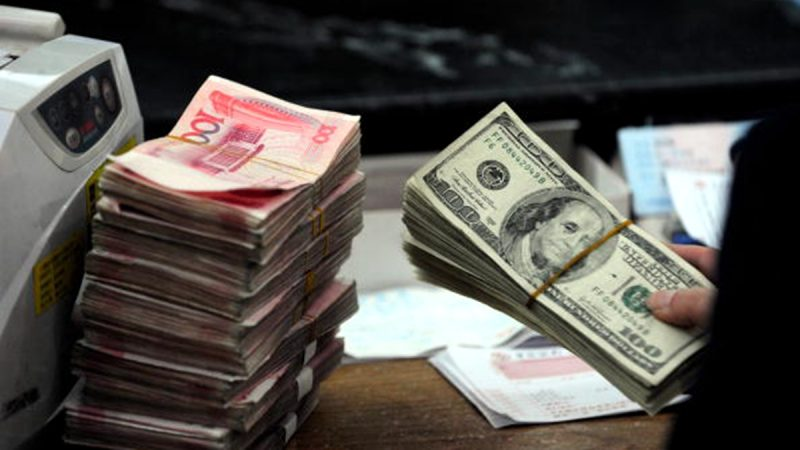 人民幣在岸及離岸價分別跌破7.14和7.16