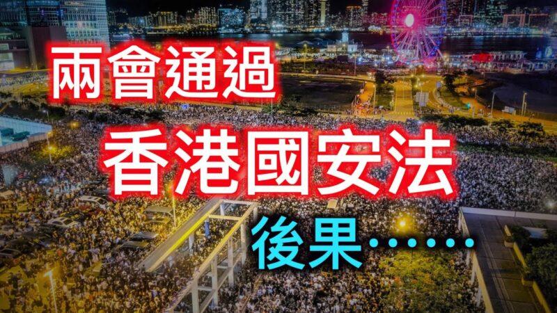 """【德传媒】两会通过""""香港国安法""""的后果……"""