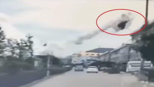 浙江槽罐车爆炸 车架冲上天 波及200多间民房(视频)