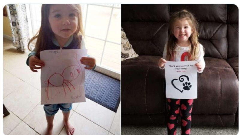 心愛狗狗離世 4歲女童寫信到天堂竟收到回信