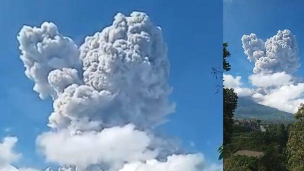 印尼默拉皮火山噴發 火山灰直竄6,000米高空