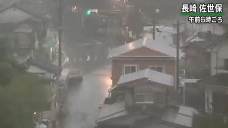 梅雨锋面影响 日本长崎破纪录大雨恐致灾