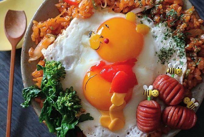 煎蛋化身卡通人物 日本妈妈创意便当走红