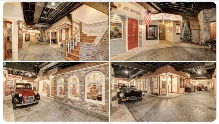 惊奇! 美国豪宅地下室藏着一座复古小镇