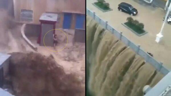 三峽上游全線警報 鐵路沖跨、車房全被淹(多視頻)