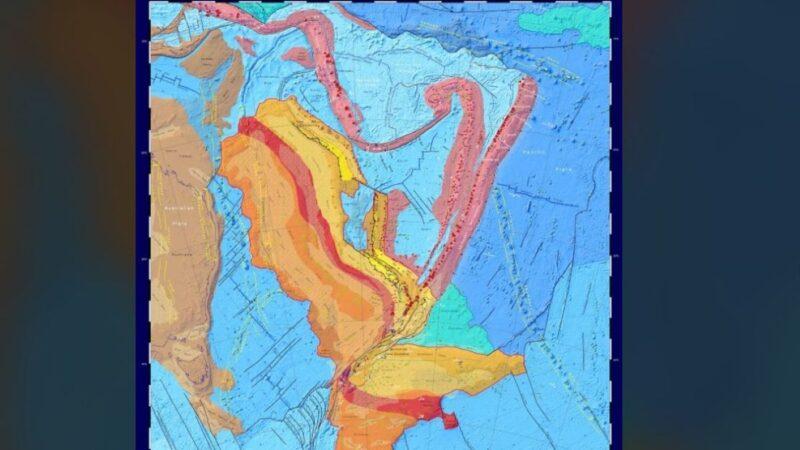 """""""西兰大陆""""新地图问世 94%土地8500万年前沉入海底"""