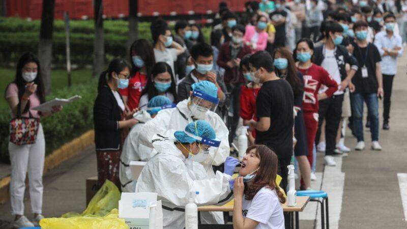 传武汉天马公司核酸检测后数千人发热 党媒辟谣