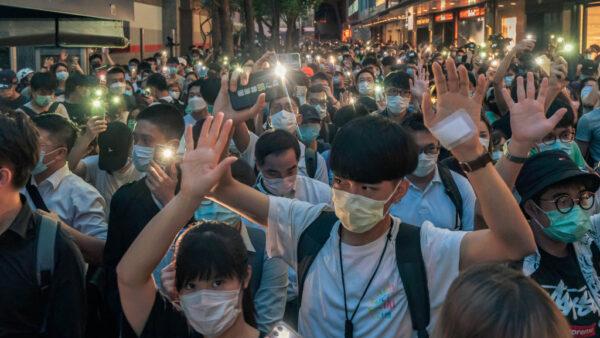 香港反送中週年 港人「流水」遊行繼續抗爭