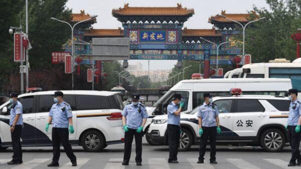 組圖:北京突爆疫情 武警進駐 氣氛緊張